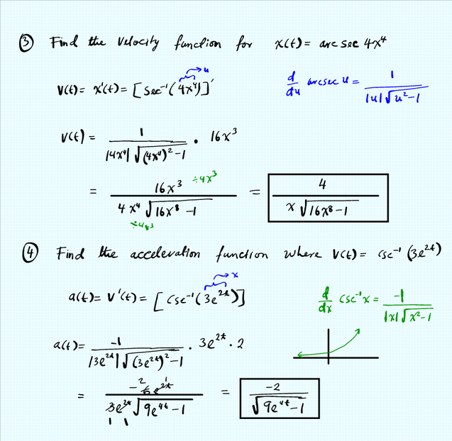 Derivative and integral practice worksheet