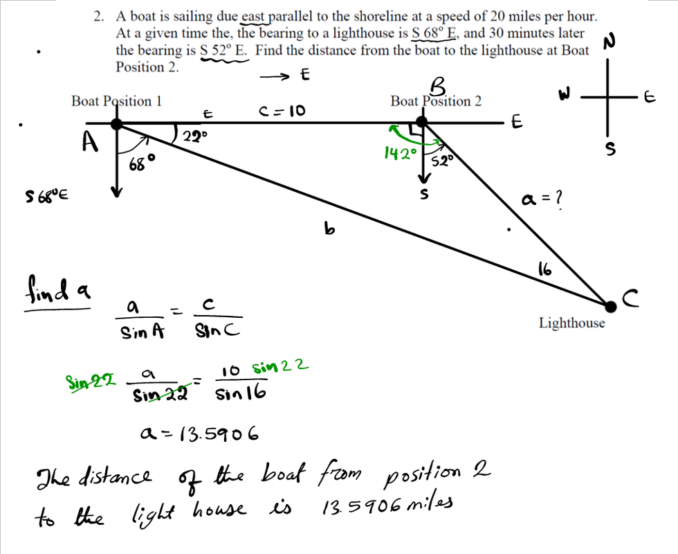 Law of Cosine Example MATHGOTSERVED – Law of Sine and Cosine Worksheet